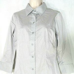 New York & Company Button Front Top Blouse Size S